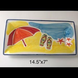 Sur La Table Porcelain beach scene platter